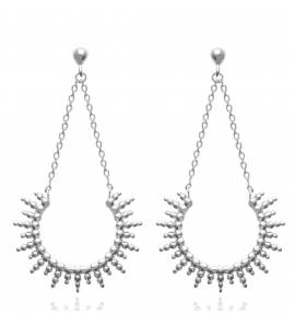 Woman silver Alain earring
