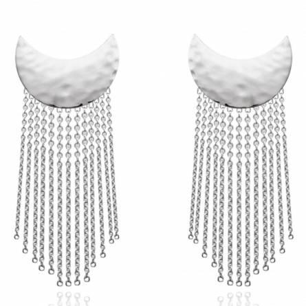 Woman silver Albertine earring