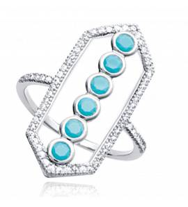 Woman silver Althea turquoise ring
