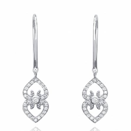 Woman silver Amanda earring