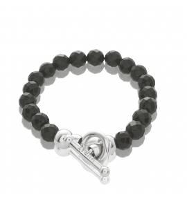 Woman silver Extase black bracelet