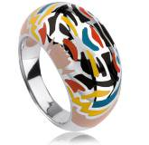 Woman silver Hathe ring
