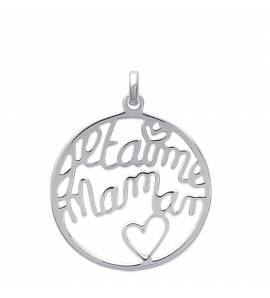 Woman silver Inconditionnel hearts pendant
