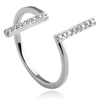 Woman silver Kaicy  grey ring