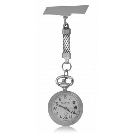 Woman silver metal Broche key chain