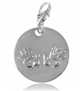 Woman silver metal charms