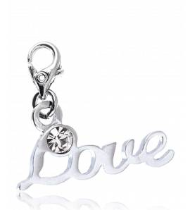 Woman silver metal Love  charms