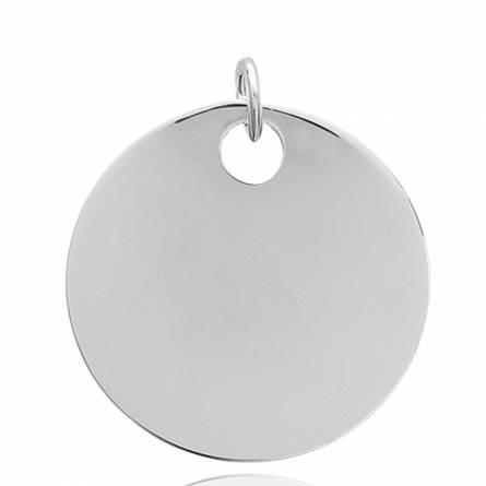Woman silver  ouverte 5 circular pendant