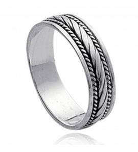 Woman silver ring