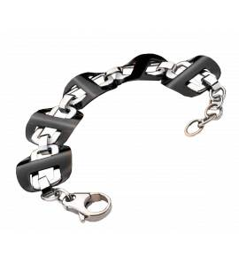Woman stainless steel Black And Dye bracelet