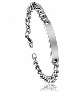 Woman stainless steel curb bracelet