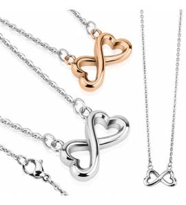 Woman stainless steel hearts necklace
