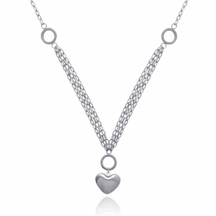 Woman stainless steel Rivière d'Amour hearts necklace