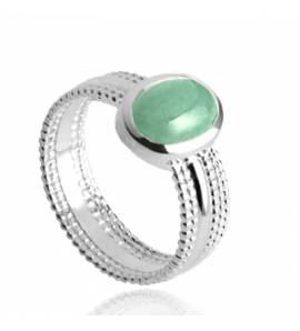 Woman stone ILYANA green ring