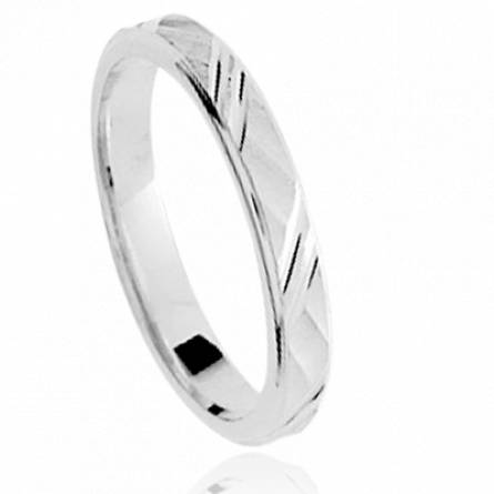 Alliance homme argent Isian