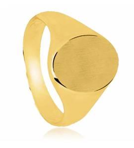 Anelli con sigillo  uomo placato in oro Matthieu giallo