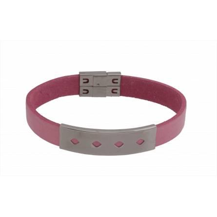 Armband frauen leder Elwenn rosa