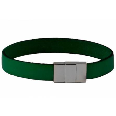Armband frauen leder Plat grün
