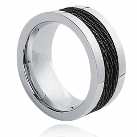 Bague cables ruthénium ultra