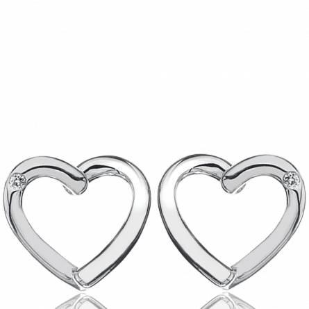 Boucles d'oreilles diamond heart