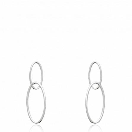 Boucles d'oreilles femme argent Agussie