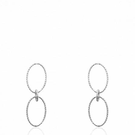 Boucles d'oreilles femme argent Imghia