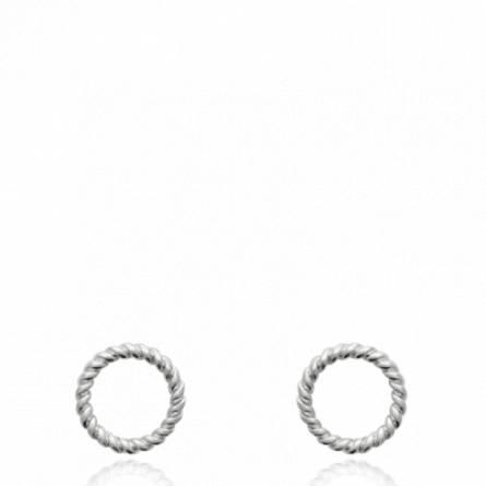 Boucles d'oreilles femme argent Passia ronde