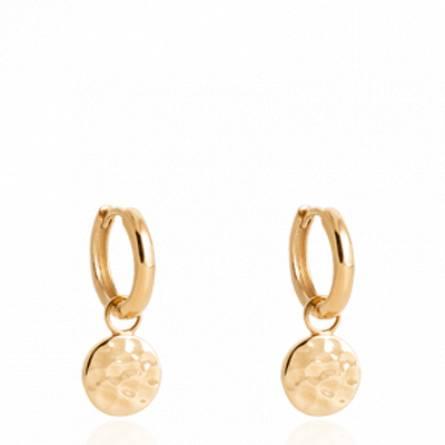 Boucles d'oreilles femme plaqué or Alberdina ronde