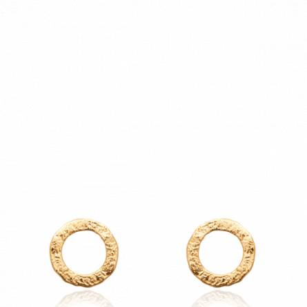 Boucles d'oreilles femme plaqué or Esiona