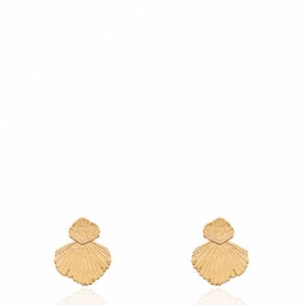 Boucles d'oreilles femme plaqué or Labera