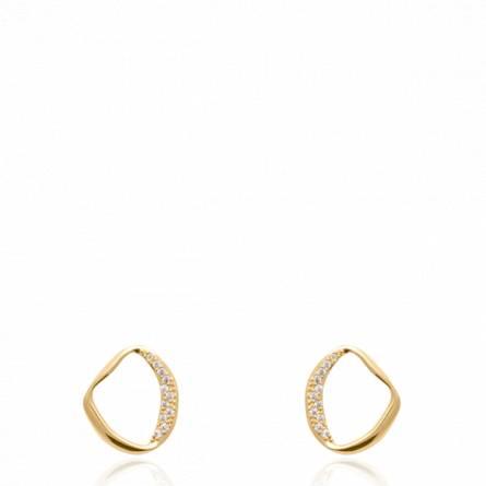 Boucles d'oreilles femme plaqué or Liona