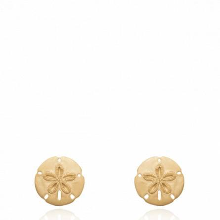 Boucles d'oreilles femme plaqué or Nolderiae ronde