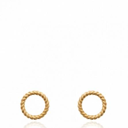 Boucles d'oreilles femme plaqué or Novica ronde
