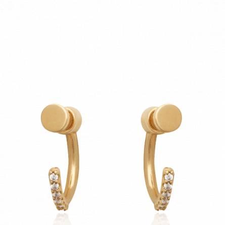 Boucles d'oreilles femme plaqué or Oberla