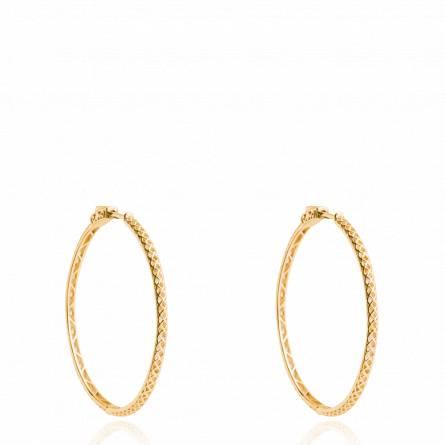 Boucles d'oreilles femme plaqué or Restina créoles