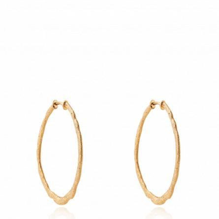 Boucles d'oreilles femme plaqué or Sudina créoles
