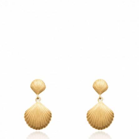 Boucles d'oreilles femme plaqué or Treffet