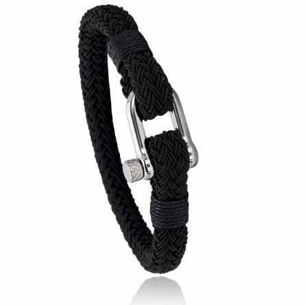 Bracelet corde et acier Jerian black
