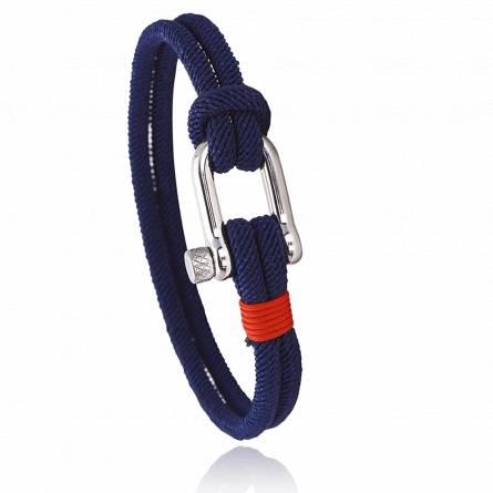 Bracelet corde et acier Lerian rouge