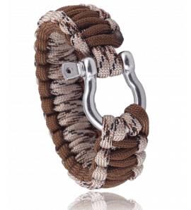 Bracelet de survie beige marron Chalom