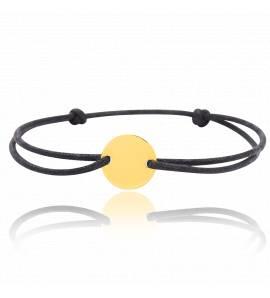Bracelet enfant or Emisse ronde noir