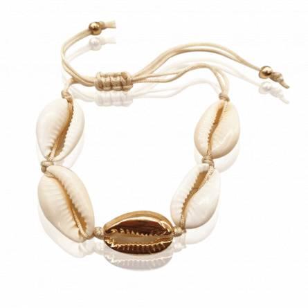 Bracelet femme métal doré Seashell gold