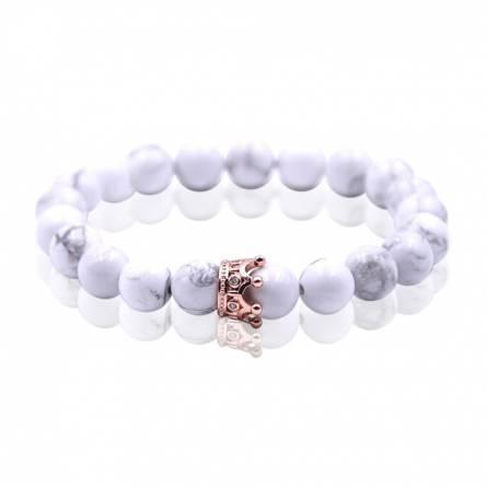 Bracelet femme perle Queen  blanc