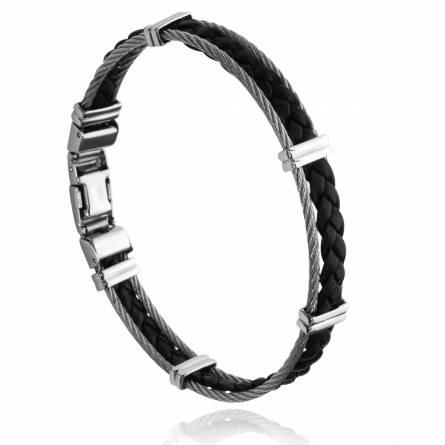 Bracelet homme acier Alwin noir