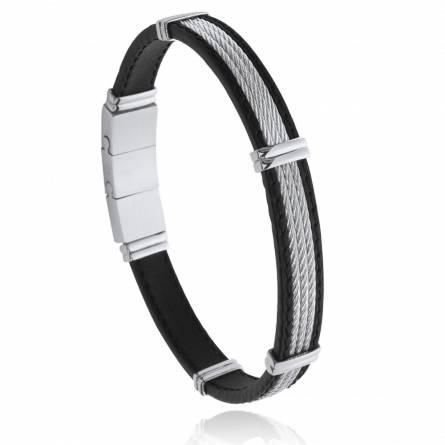 Bracelet homme acier Arun noir