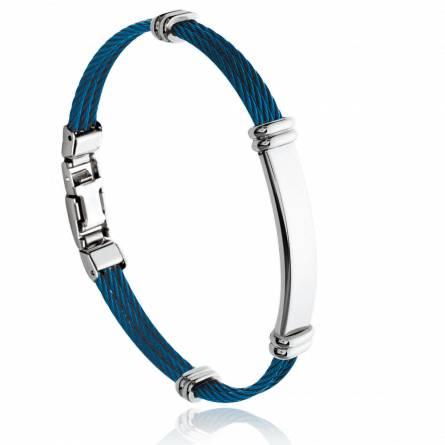 Bracelet homme acier Keles bleu