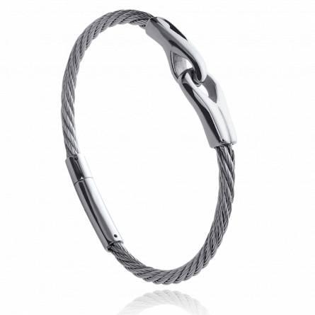 Bracelet homme acier Ricardo gris