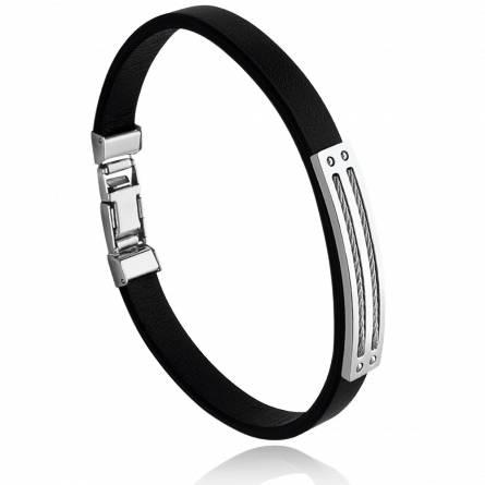 Bracelet homme acier Thaumas noir