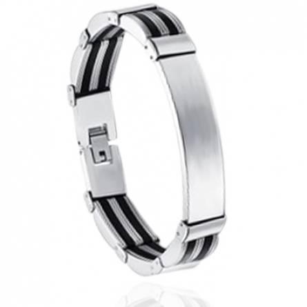 Bracelet homme silicone Edison noir