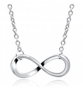 Bracelete feminino ródio infinito cinza
